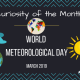 curiosity of the month header image - world meteorological day