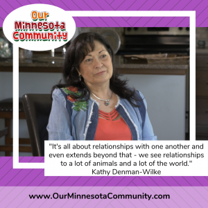Quote and image from Kathy about the importance of relationships