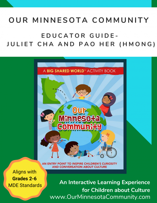 Educator Guide Cover Page Juliet Cha and Pao Her Hmong